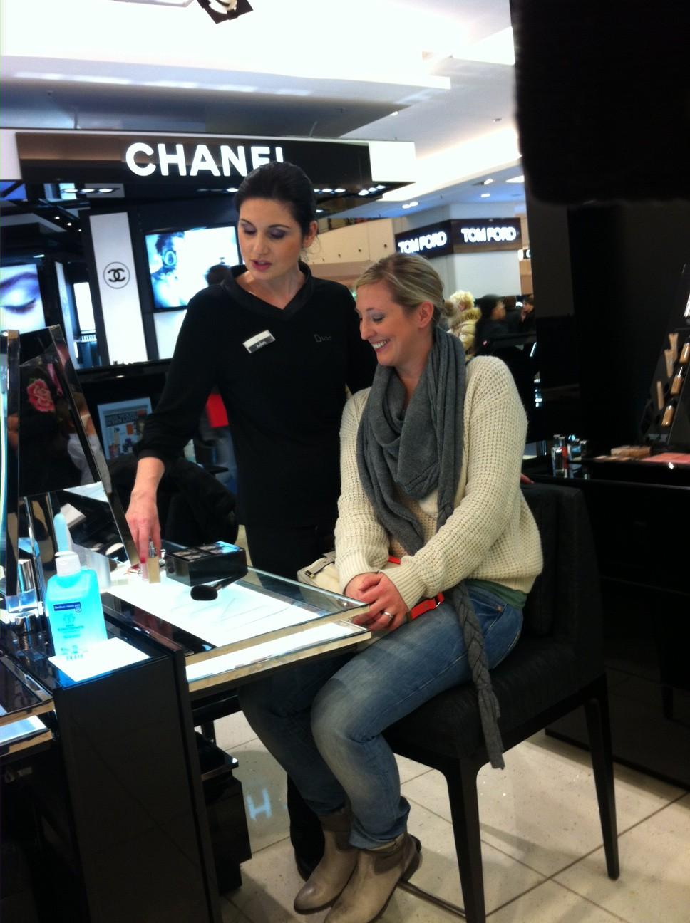 Die beste Make-Up Beratung gibt es von Frau Mlinarskij bei Dior im KaDeWe