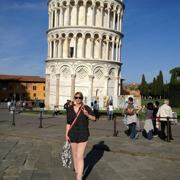 Denise in Pisa