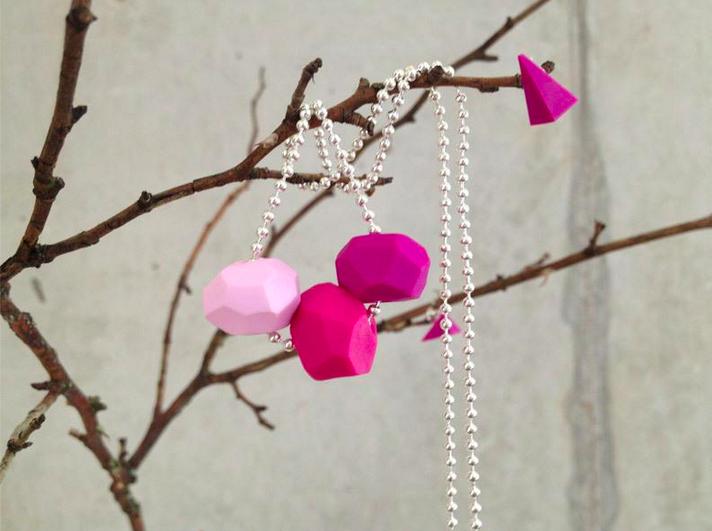 geoh! Kette pink und Ohrringe