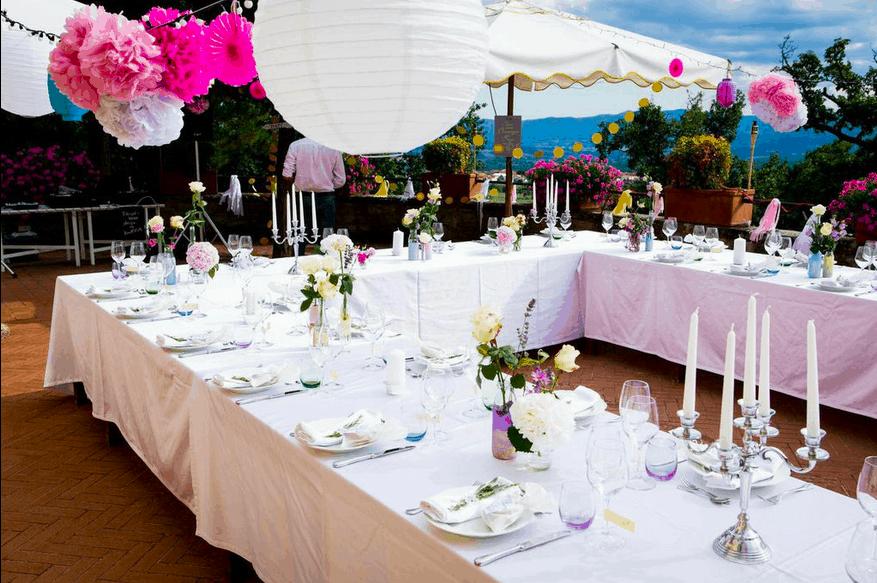Tischdeko Hochzeitsfeier by fasheria.com