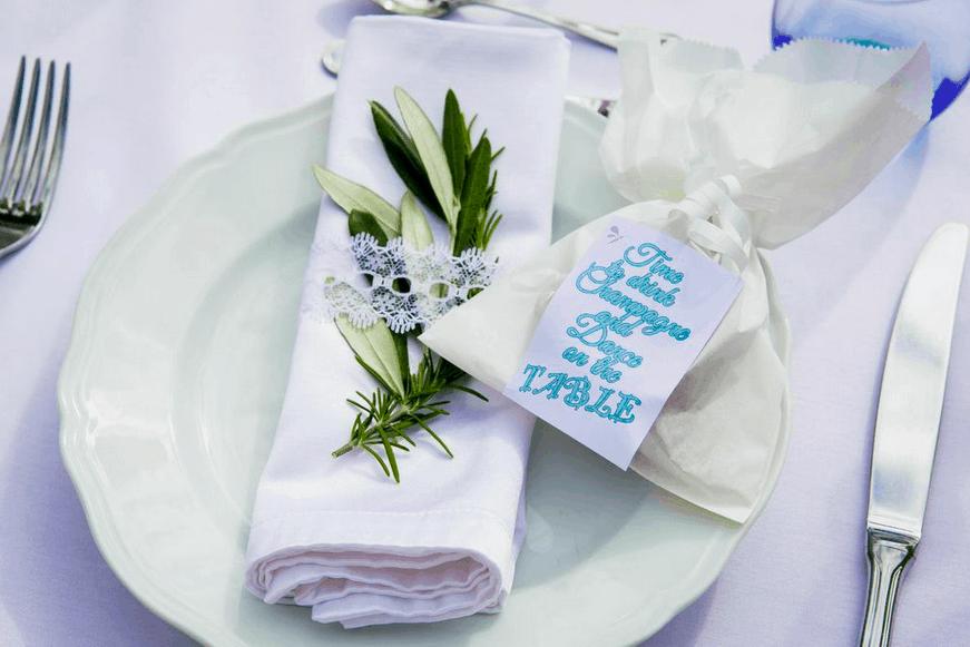 Servietten Hochzeit Tischdeko fasheia.com