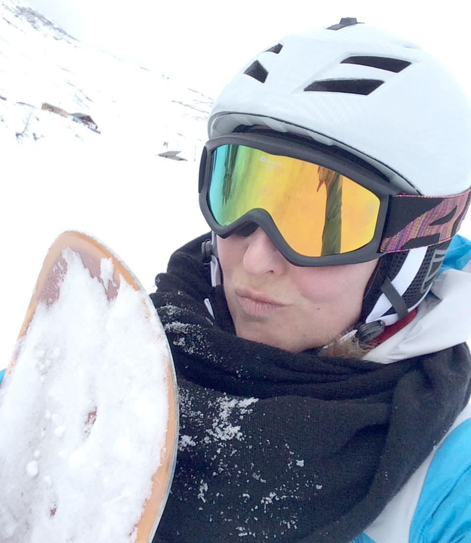 schnute im skiurlaub