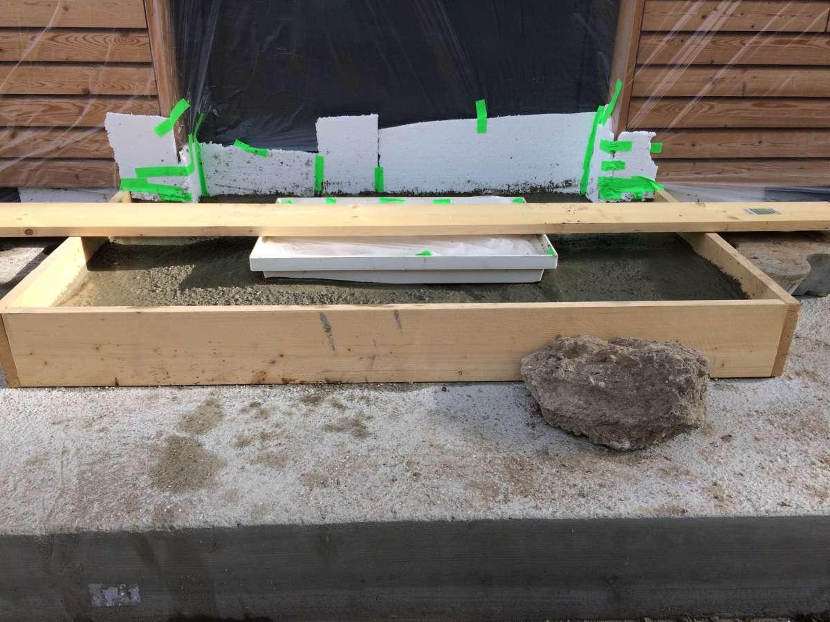 Beton-Podest für Eingangstüre bauen